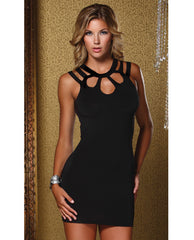 Open Back Keyhole Enrapture Dress Black Sm