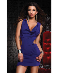 Sexy Open Back Tantalize Dress Purple Lg