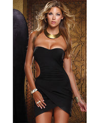 Halter Open Side Embrace Dress Black Lg