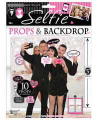 Bridal Party Selfie Props & Backdrop