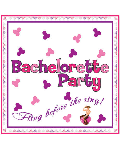 Bachelorette Party Napkins/trivia Game - 10 Pack