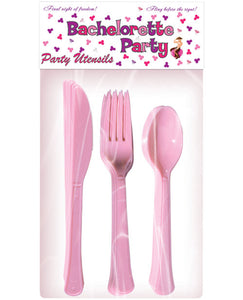 Bachelorette Party Utensils - 10 Piece Place Setting