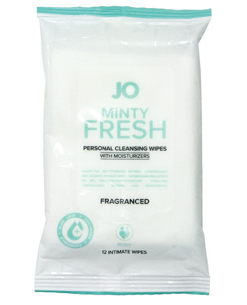 Jo Personal Cleansing Wipes - Minty Fresh Pack Of 12