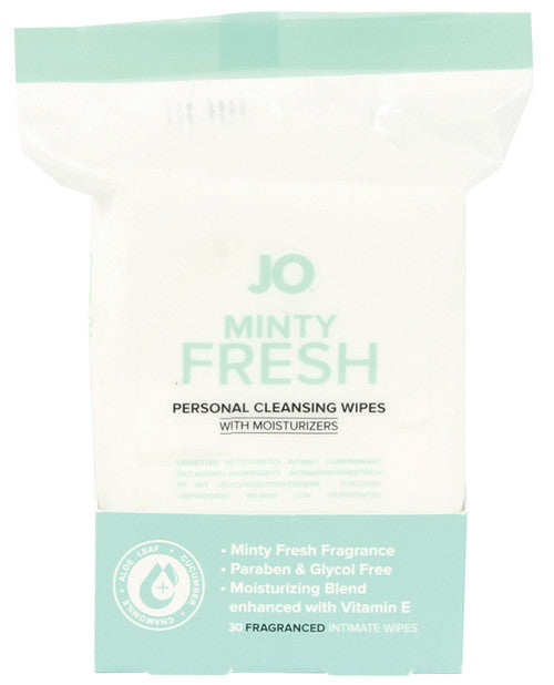 Jo Personal Minty Fresh Cleansing Wipes - 30 Pack