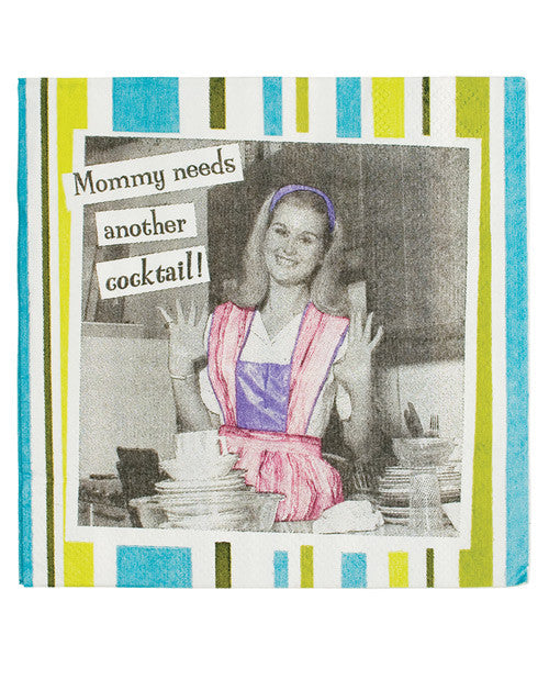 Aprons & Attitude Mommy Need Another Cocktail Napkins - Set Of 20
