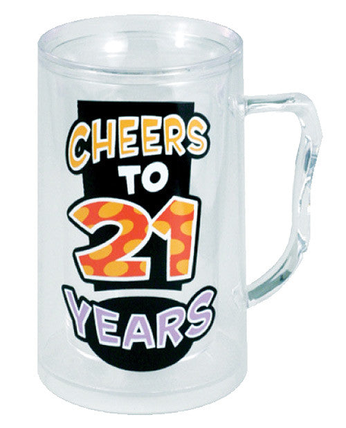 Cheers To 21 Years Tankard
