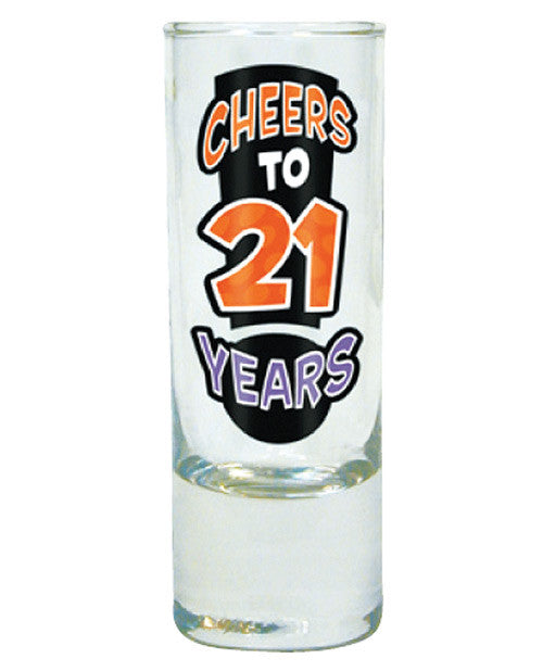 Cheers To 21 Years Shot Glass