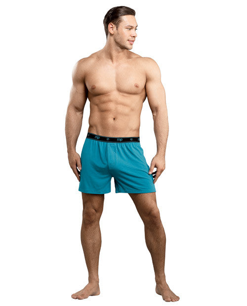 Bamboo Boxer Short Teal Md