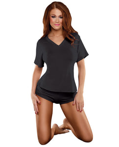 Bamboo Magic V-neck Tee Black Xl