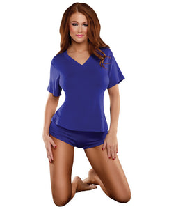 Bamboo Magic V-neck Tee Purple Md