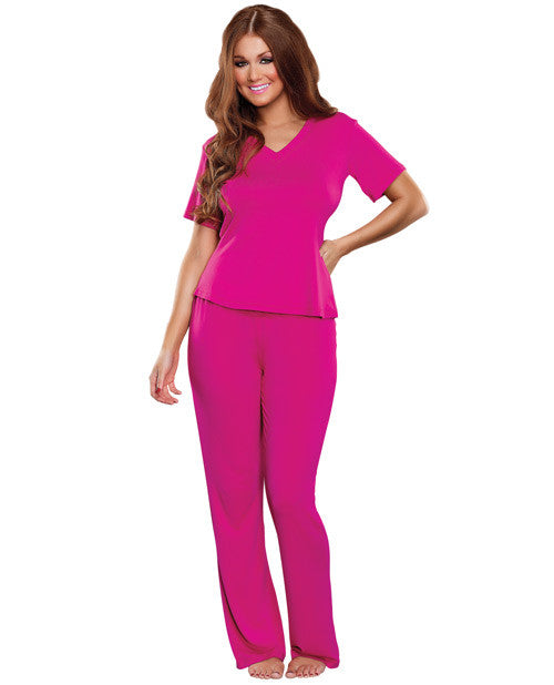 Bamboo Magic Lounge Pant Pink Lg