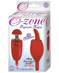 O Zone Usb Rechargeable Orgasmic Tongue Vibe - 10 Function Red