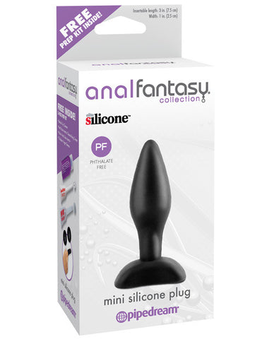 Anal Fantasy Collection Mini Silicone Plug - Black