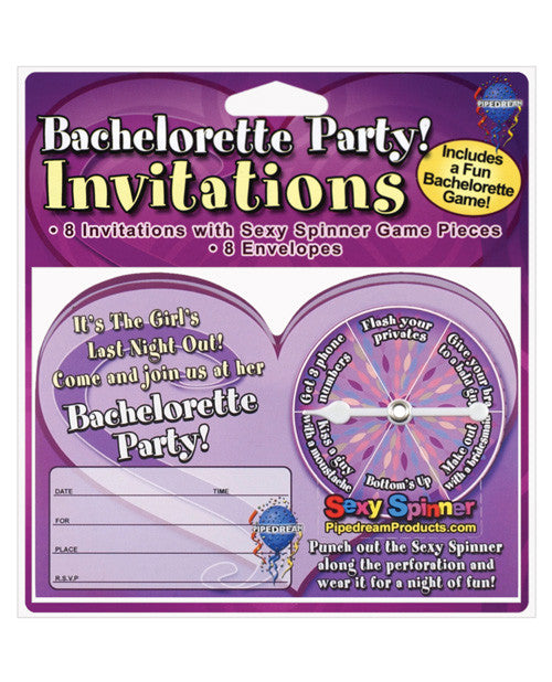 Bachelorette Party Invitations W/spinner Game - Pack Of 8