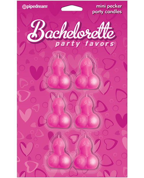 Bachelorette Party Favors Mini Pecker Party Candles - Pack Of 6