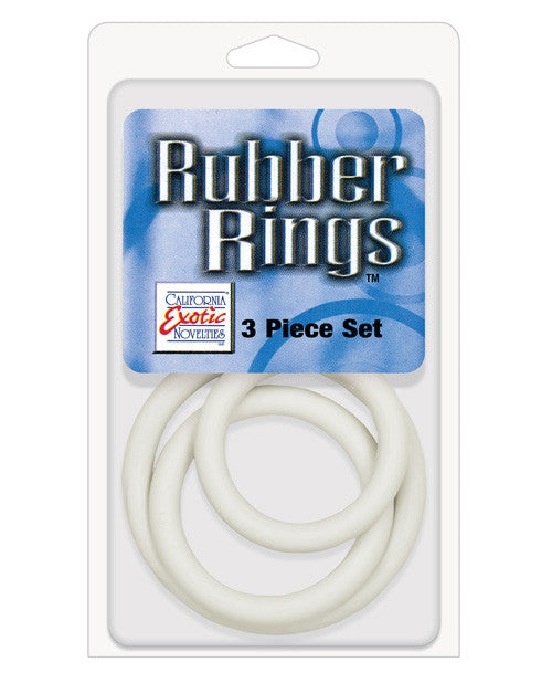 Rubber Ring 3 Pack (sm,md,lg) - White