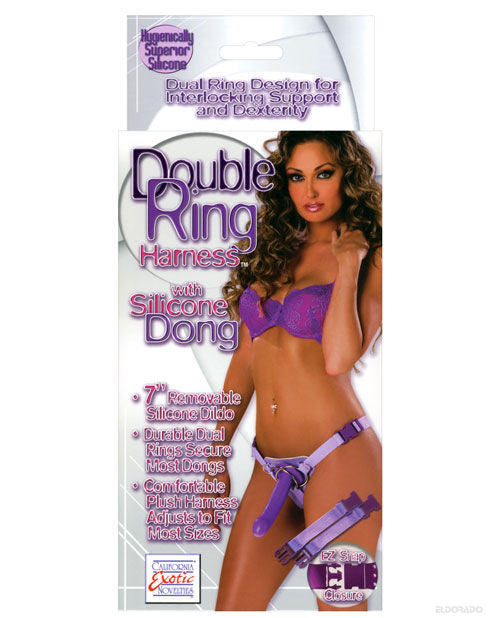 Double Ring Harness W/silicone Dong