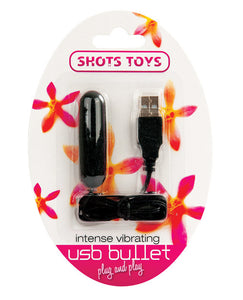 Shots Intense Vibe Usb Bullet - Black