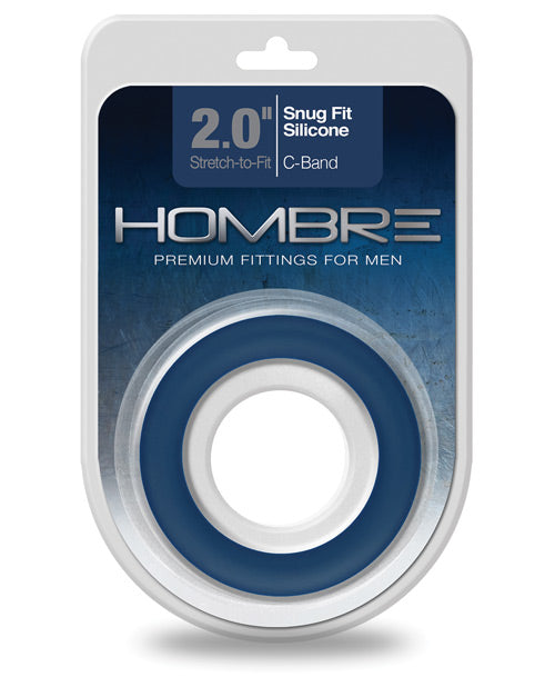 Hombre Snug Fit Silicone C Band - Navy