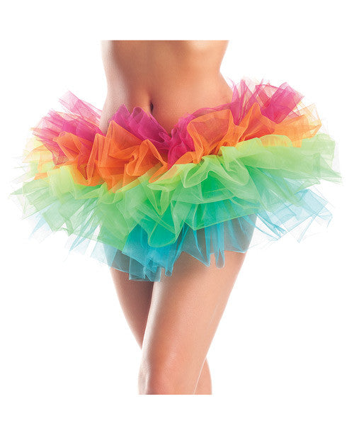Layered Organza Tutu Rainbow O/s