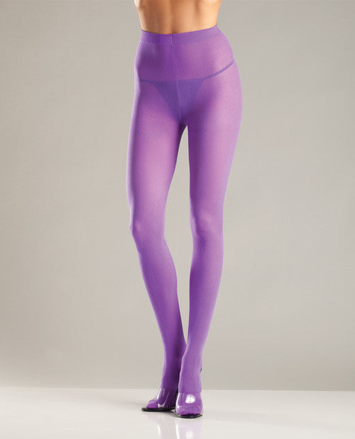 Opaque Nylon Pantyhose Purple O/s