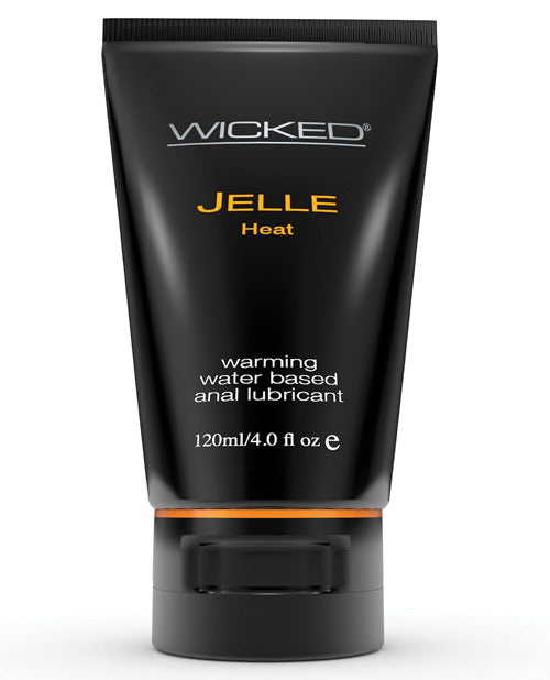 Wicked Sensual Care Jelle Waterbased Warming Anal Gel Lubricant - 4 Oz Tube