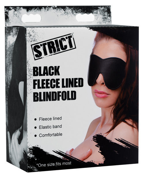 Strict Fleece Lined Blindfold - Black