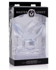 Master Series Anchored Clear Anal Plug