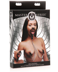Master Series Degraded Mouth Spreader & Nipple Clamps