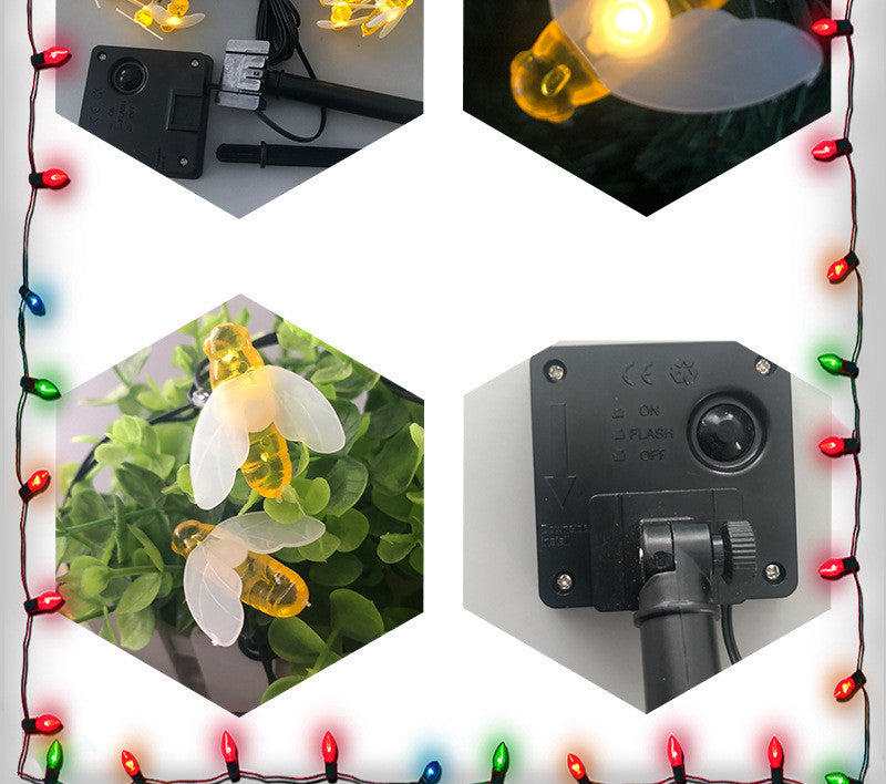 Bee solar hanging lights
