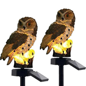 (BUY 2 ONLY $33.98)Solar Powered Waterproof LED Owl Garden Lamp