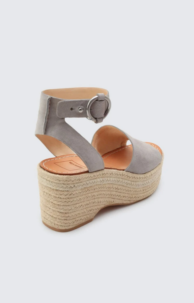 Grey Suede Wedges