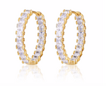 CZ Fancy Sparkle Hoops