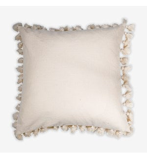 Oatmeal Pillow with Tassels Border