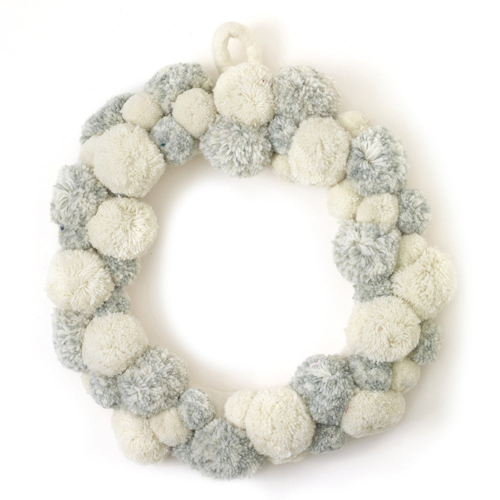 Fluffy Pom Wreath