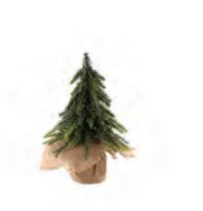 Small Festive Fir Tree with Silver Sparkle