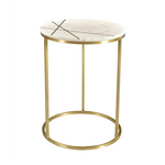 Blake Marble and Gold Inlay Side Table