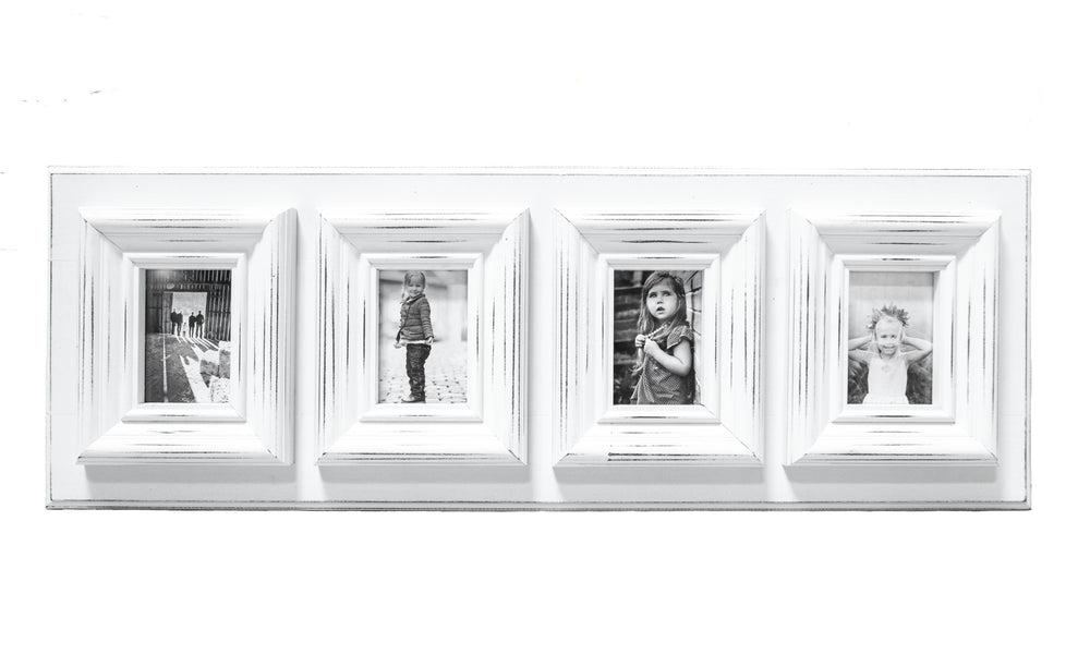 Chunky Frame in White | Four 5x7s