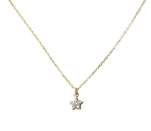 Baby CZ Star Necklace