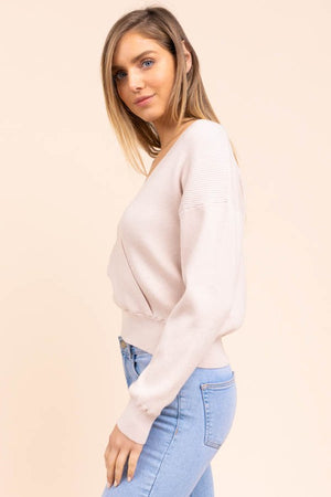 Ana Surplice Front Sweater
