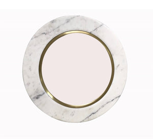 Load image into Gallery viewer, Round Marble & Brass Mirror | 24""