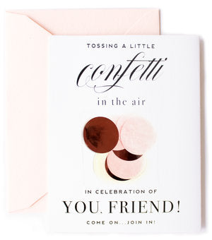Tossing a Little Confetti in the Air Greeting Card
