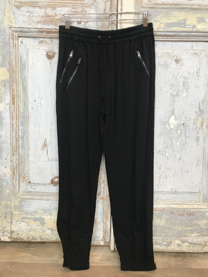Joggers Black with Zippers