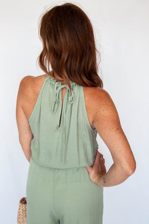Load image into Gallery viewer, Frayed Neck Jumpsuit by Bella Dahl