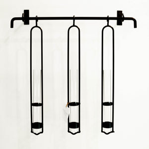 Hanging Planter with Glass Tubes