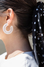 Clear Tube Hoop Earrings