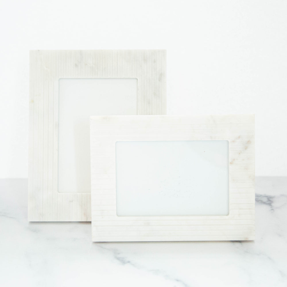 "White Mable Frame 7""x5"""