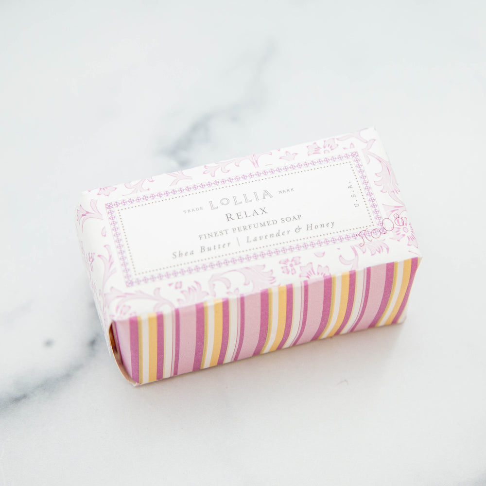 Relax Perfumed Shea Butter Bar Soap by Lollia