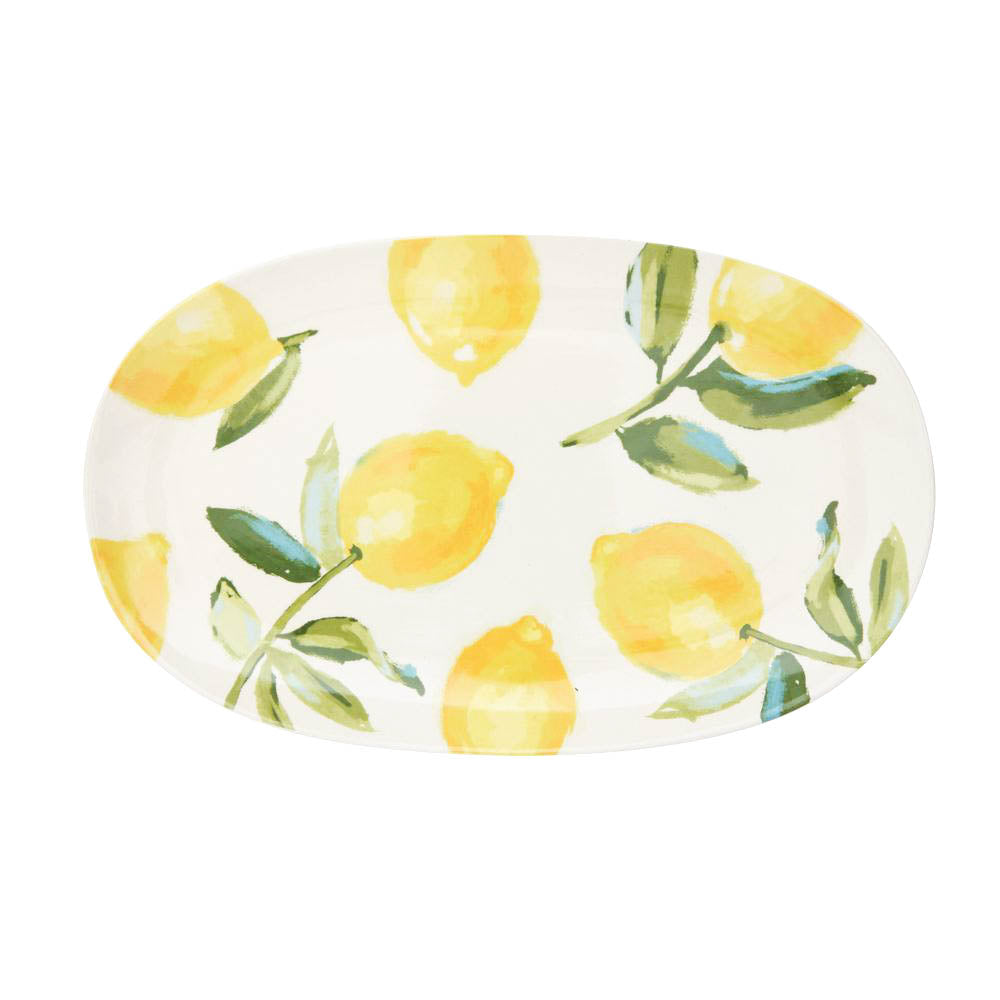 Load image into Gallery viewer, Ceramic Platter with Lemon Design
