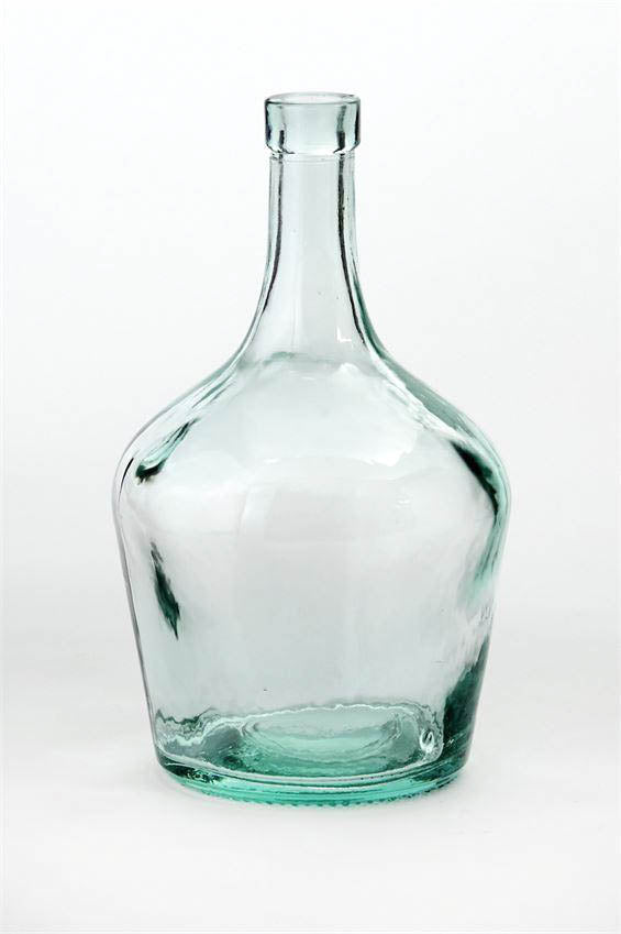 Clear Glass Cellar Bottle